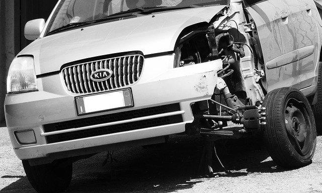 rozbité auto